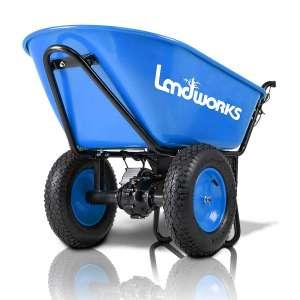 Landworks Wheelbarrow 330lbs Electric Powered Dual Wheels Cart