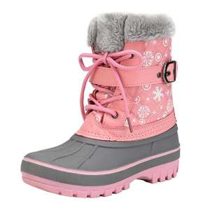 DREAM PAIRS Mid-Calf Boys Girls Toddler Winter Snow Boots