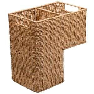KOUBOO Wicker Stair Basket, Natural