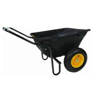 Polar Trailer Cub Cart 50 x 28 x 29 Inches 2 Wheeled Wheelbarrow