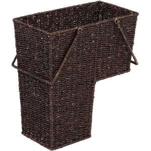 Trademark Innovations Wicker Stair Basket (Brown)