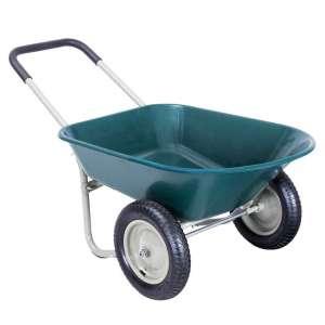 EnjoyShop Heavy Duty 2 Wheeled Wheelbarrow Wagon