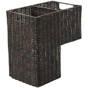KOUBOO 1060066 Stair Basket, Dark Brown