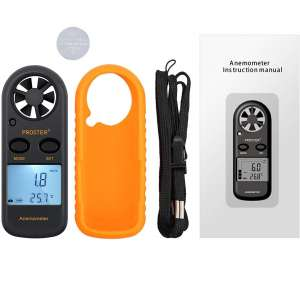 Proster Handheld Wind Speed Meter with LCD Backlight Screen