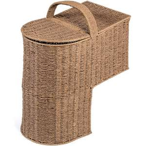 Trademark Innovations 15.25-Inches Stair Basket