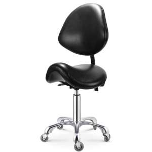 Opqpq Adjustable Saddle Stool with Back Support