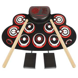 YUOIOYU Electronic Drum Set, 10 Hours Playtime