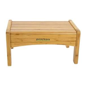 Ginsey Growing Up Green Bamboo Step Stool