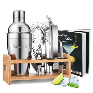 Godmorn Cocktail Shaker Set 15 Pieces 304 Stainless Steel