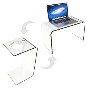 Lavish Home 80-ACRYL-DSK Acrylic Table