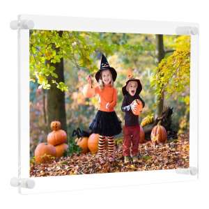 NIUBEE 11 X 14 Inches Clear Acrylic Frameless Picture Frame