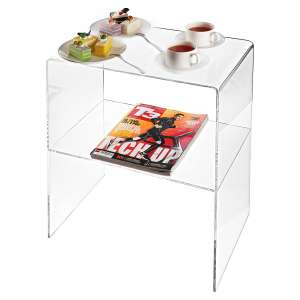MyGift Modern Design Clear Decorative End Acrylic Table
