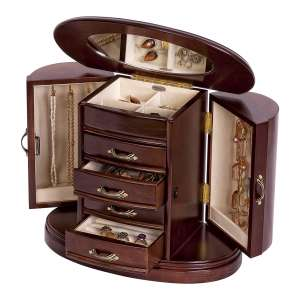 Mele &Co Wooden Jewelry Box