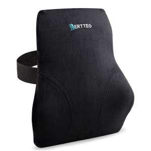 Vertteo Full Lumbar Support Black High Back Pillow