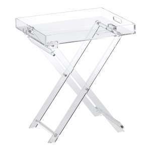 Designstyles Folding Tray Acrylic Table