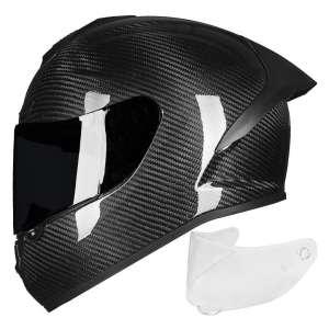 ILM Street Bike Carbon Fiber Motorcycle Helmet