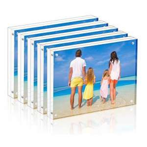 Meetu Acrylic Picture Frame 4 x 6 Inches 5 Pack