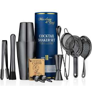 Mixology and Craft 11 Pieces Shaker Kit with Weighted Boston Shaker