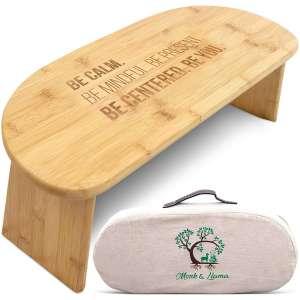 Monk & Llama Meditation Bench - Includes a Carrying Bag