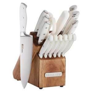 Sabatier Forged Triple Rivet Wooden Knife Block Set