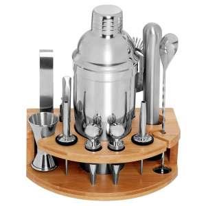 DEKINMAX 12 Pieces Bartender Kit Stainless Steel Cocktail Shaker