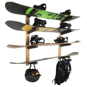 Pro Board Racks Snowboard 4 Boards Wall Rack Mount