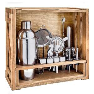 Bestwishes 18 Pieces Cocktail Shaker Set Stainless Steel