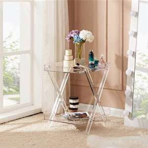 Likenow Furniture Rectangular Tray Acrylic Table