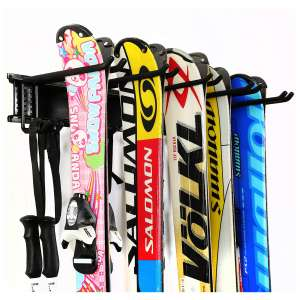 Ultrawall Ski Snowboard Storage Rack Wall Mount Shelves Storage Hanger