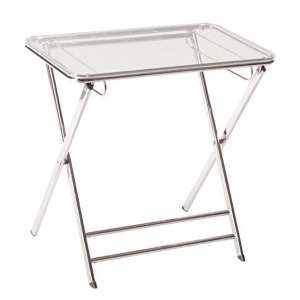 LeisureMod Victorian Accent Acrylic Table