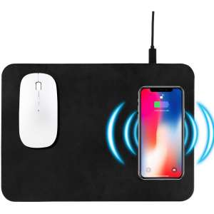 Maoyea Wireless Charging Mouse Pad (Black-1)