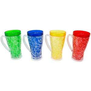Trademark Innovations Plastic Beer Stein Freezer Mugs