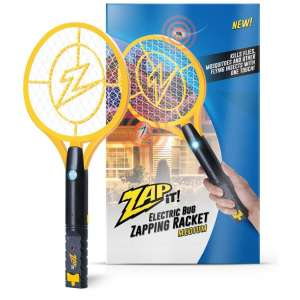 ZAP IT! Bug Zapper 4,000V Rechargeable Mosquito Racket