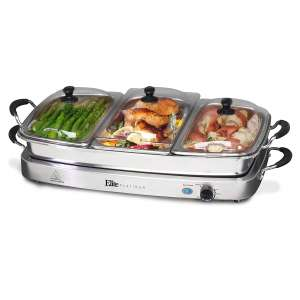 Elite Gourmet Buffet Server Warming Tray