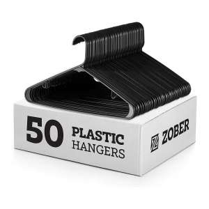 Tubular Black Plastic Hangers
