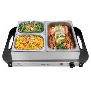 Chefman Stainless Steel Hot Plate Chafing Dishes