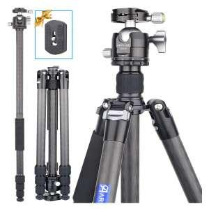 ARTCISE 69.7 Inches Carbon Fiber Camera Tripod 39lbs Max Load