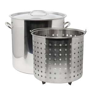 CONCORD Cookware 53 QT Stock Pot with a Basket