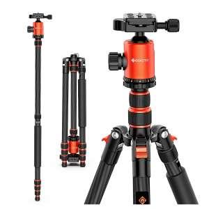 GEEKOTO 79 Inches Carbon Fiber Camera Tripod