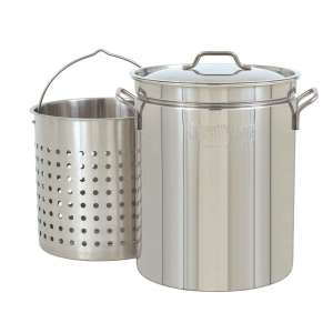 Bayou Classic 1144 Stainless Stockpot, Silver