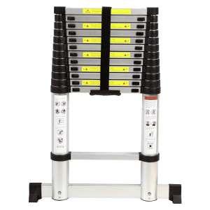 Varbucamp Aluminum Telescoping Ladder, 350lbs Capacity