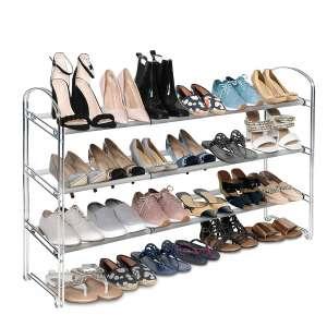 Seville Classics Shoe Rack Metal Freestanding Closet