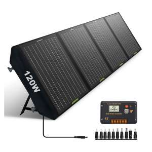 ECO-WORTHY 120W Foldable Solar Panel with 20A Controller
