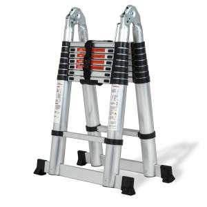 SUNCOO 16.5' Telescoping Ladder, 330lbs Max Capacity