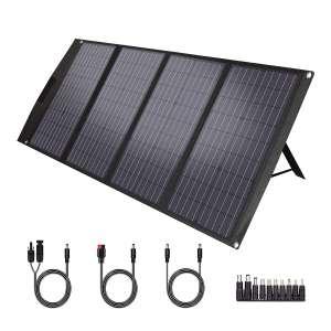 TWELSEAVAN 120W Foldable Portable Solar Panel 4 Ports