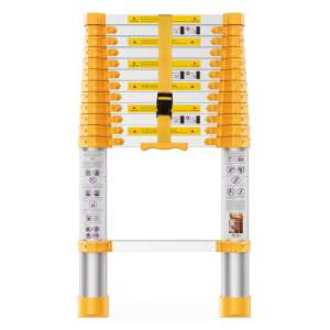 BOWEITI 12.5' Reinforced Telescopic Ladder, Yellow