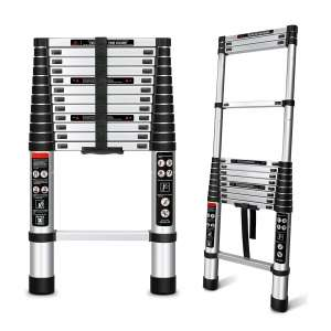 Augtarlion Aluminum Collapsible Ladder with Locking Mechanism