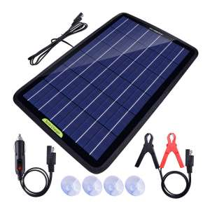 ECO-WORTHY Solar Power Car Battery Charger