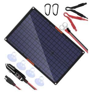 OYMSAE Solar Power Car Battery Charger