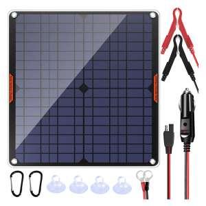 POWISER Solar Power Car Battery Charger